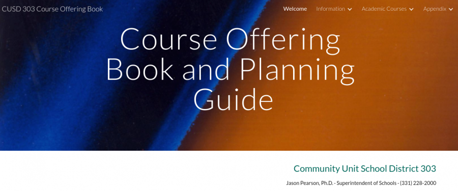 Different courses available to students are displayed on North's Course Offering and Planning Guide website.