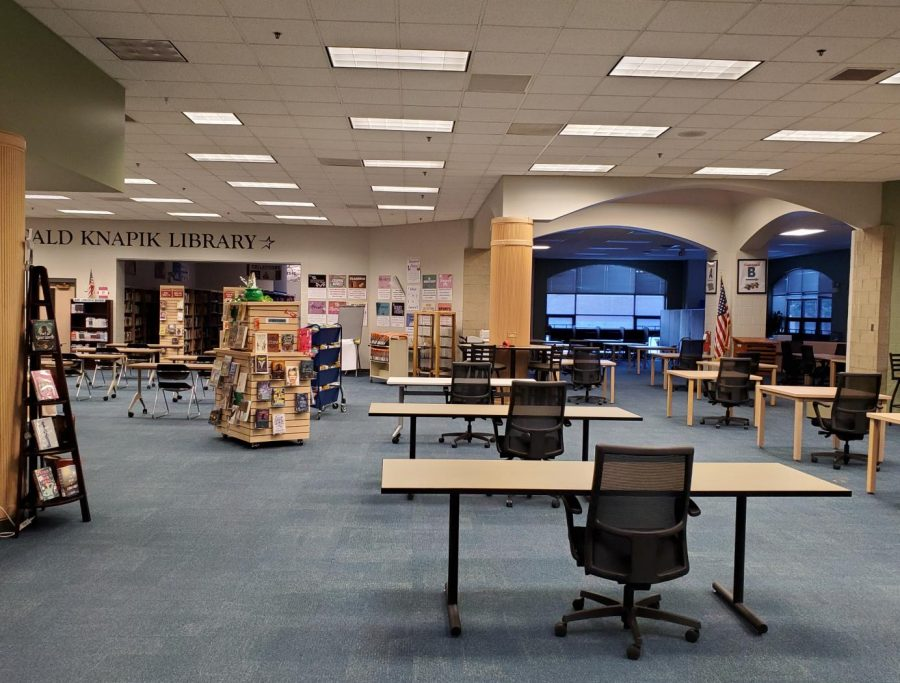 Since students aren't allowed to browse the stacks like during a usual year, the LRC has been a lot more empty than usual.