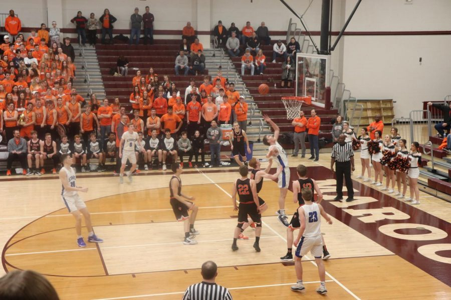 Taken on March 7, 2020, the boys varsity basketball team go up against St. Charles East. By winning this game, the team advanced to McHenry Sectional Semifinal. This game was one of the last before lockdown.