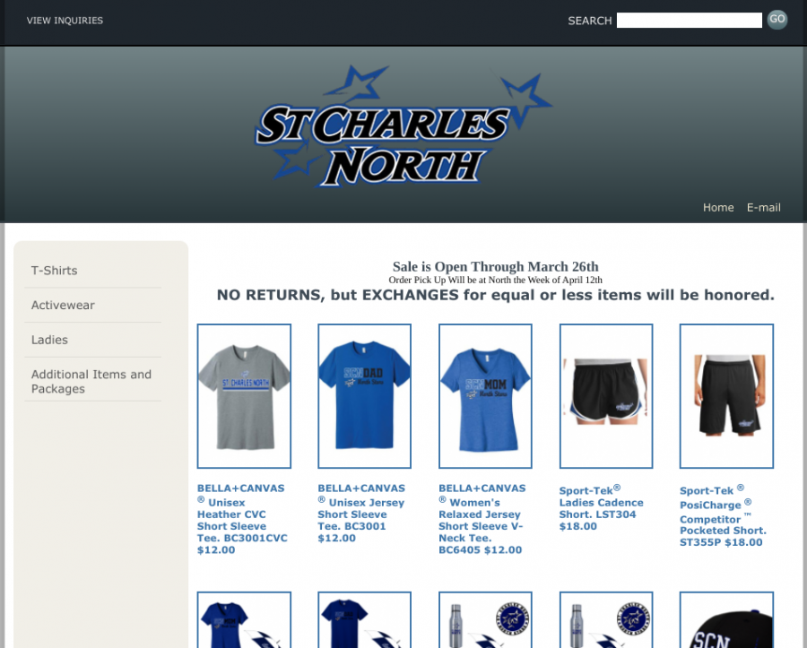 Now through March 26. the School Store is hosting an online sale for North spirit wear.