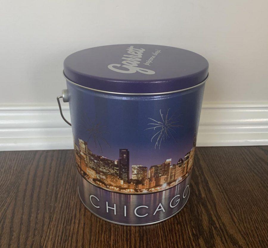 Loyola University sent out buckets of Garrett's popcorn to prospective students