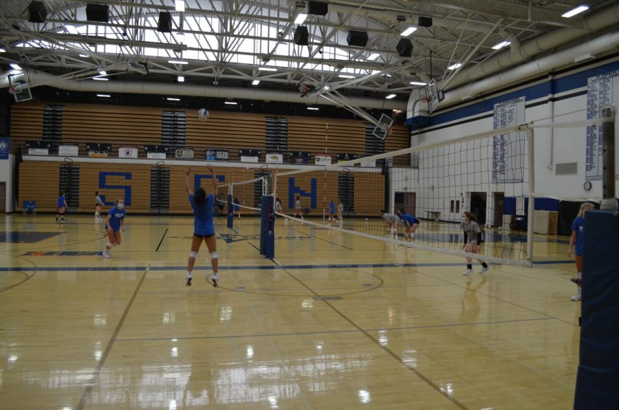 Girls' volleyball was moved to spring and had a shortened season.