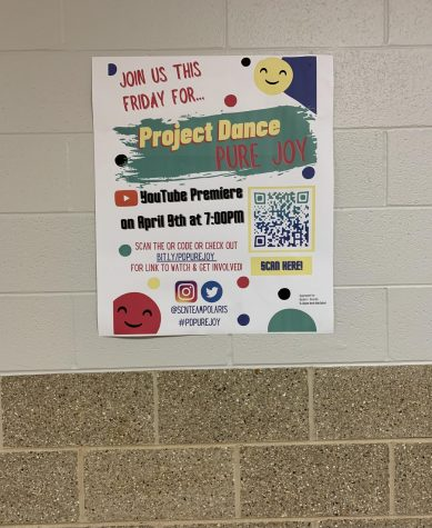 Posters around North advertised Project Dance Pure Joy and invited students and staff to visit the link to watch the live YouTube premiere.