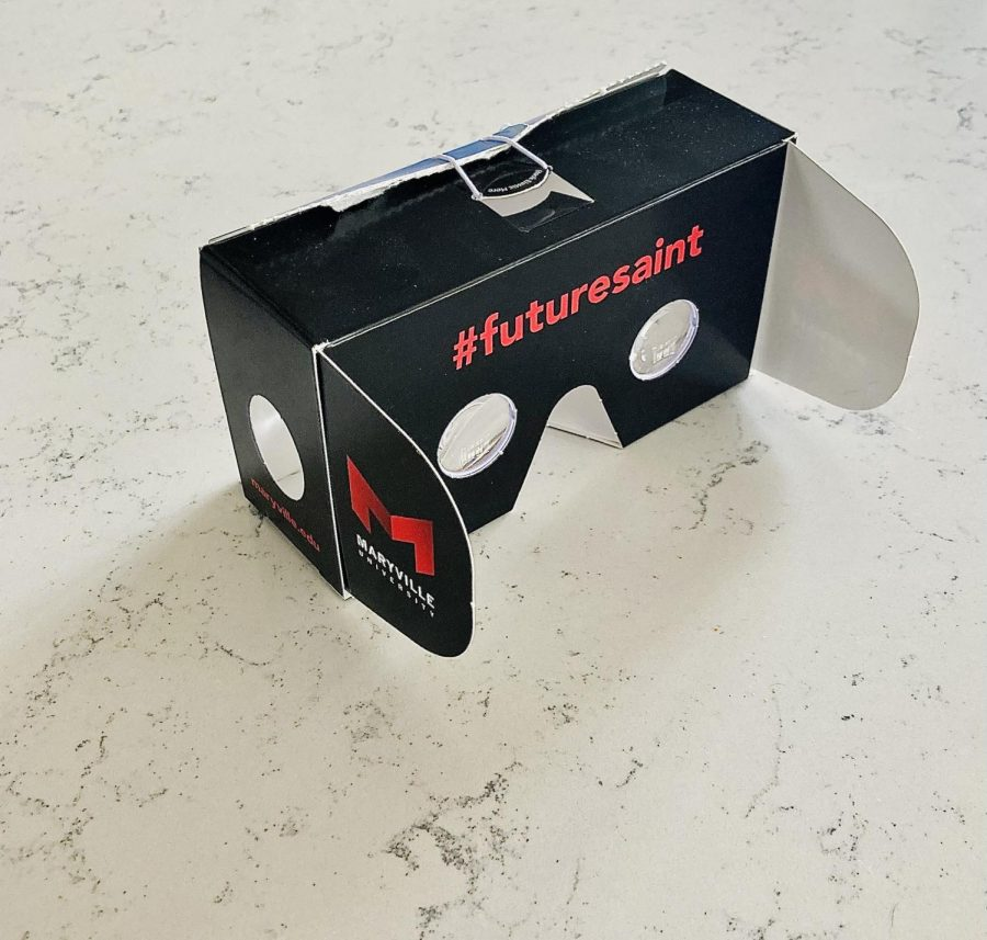 A VR headset that Maryville University gave out