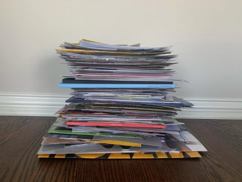 The amount of mail colleges send over the college searching process