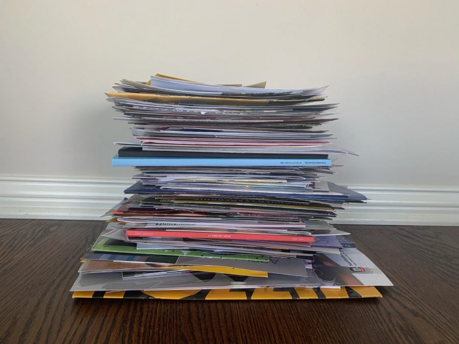 The+amount+of+mail+colleges+send+over+the+college+searching+process
