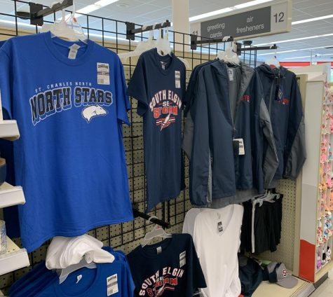 St. Charles North Merchandise can be seen at several local stores, including the South Elgin Walgreens.