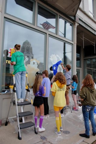 Gallery: Homecoming Window Painting in Downtown St. Charles