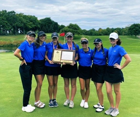 The golf team after winning Conference.